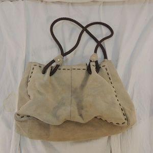 Handbags - Genuine Suede Purse/Handbag Tan 50328